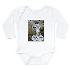 Cute Crocheting Long Sleeve Infant Bodysuit