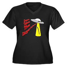 Didgeridoo Women's Plus Size V-Neck Dark T-Shirt