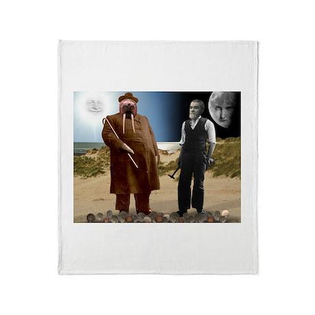 The Walrus & The Carpenter Throw Blanket