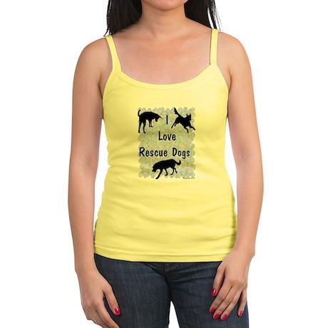 I Love Rescue Dogs (blue) Jr. Spaghetti Tank
