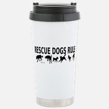 Rescue Dogs Rule Stainless Steel Travel Mug