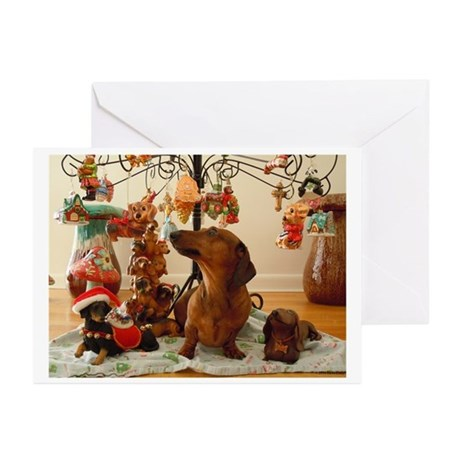 Christmas Dachshund (Ver2)Greeting Cards(Pk of 10)