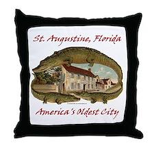Crocodile House Throw Pillow