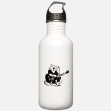 Accoustic Guitar Cat Sports Water Bottle