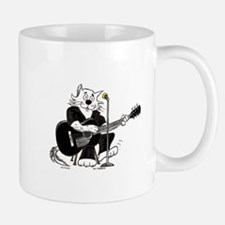 Accoustic Guitar Cat Mug