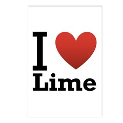 I Love Lime Postcards (Package of 8)