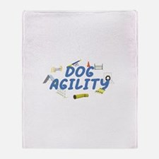 Dog Agility Throw Blanket