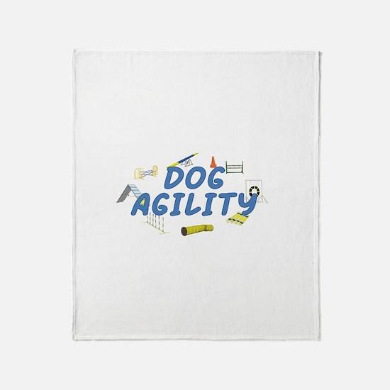 Dog Agility Throw Blanket