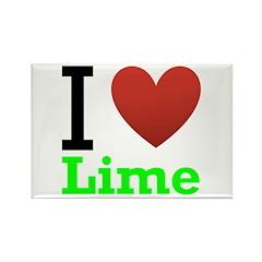 I Love Lime Rectangle Magnet