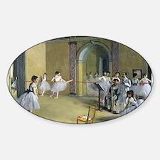Cute Impressionist Sticker (Oval)