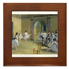 Unique Edgar degas Framed Tile