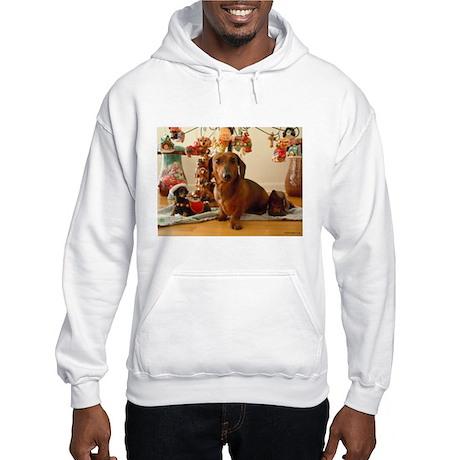 Christmas Dachshund (Ver1) Hooded Sweatshirt