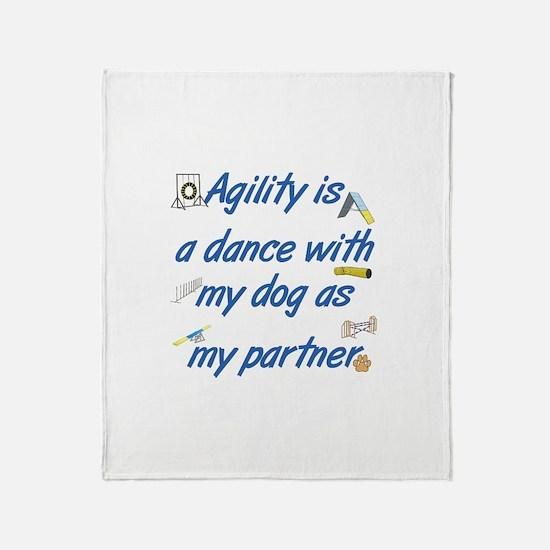 Agility Dance Throw Blanket