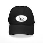 Skull & Crossbones Oval Black Cap