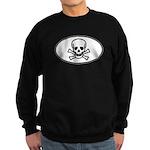 Skull & Crossbones Oval Sweatshirt (dark)