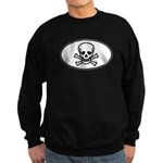 Skull & Crossbones Oval Sweatshirt (dark)