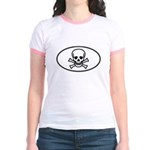 Skull & Crossbones Oval Jr. Ringer T-Shirt