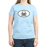 Skull & Crossbones Oval Women's Light T-Shirt
