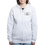 Skull & Crossbones Oval Women's Zip Hoodie