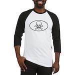 Skull & Crossbones Oval Baseball Jersey