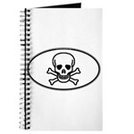 Skull & Crossbones Oval Journal