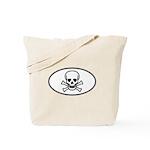Skull & Crossbones Oval Tote Bag
