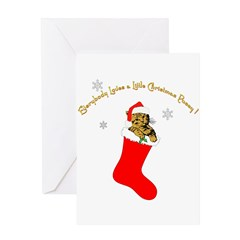 CHRISTMAS PUSSY Greeting Card