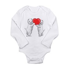 Westies with Heart Long Sleeve Infant Bodysuit