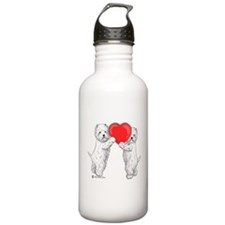 Westies with Heart Water Bottle