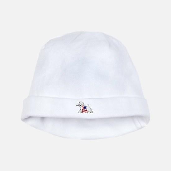 Patriotic Westie baby hat