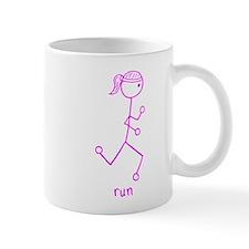 Pink Running Girl w/ Words Mug