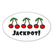 'Jackpot' Oval Decal