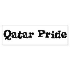 Qatar Pride Bumper Bumper Sticker