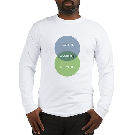 Texting & Driving Venn Diagram Long Sleeve T-Shirt