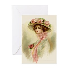 Gibson Girl Greeting Card