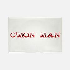 C'mon Man - red Rectangle Magnet
