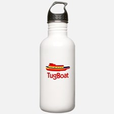 Red Tug Boat Water Bottle