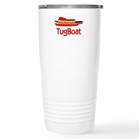 Red Tug Boat Stainless Steel Travel Mug