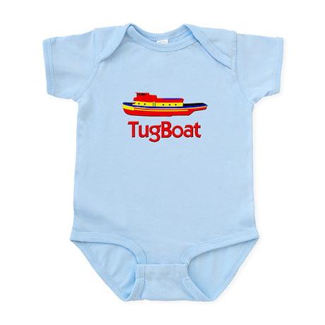 Red Tug Boat Infant Bodysuit