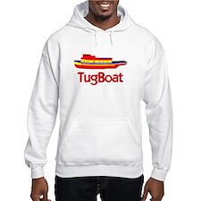 Red Tug Boat Hoodie