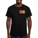 Gay World Orange Men's Fitted T-Shirt