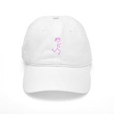 Pink Run. Girl No Words Baseball Cap