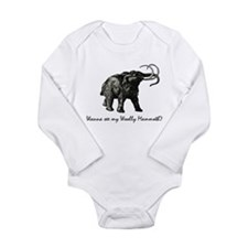 Woolly Mammoth Pick-up Long Sleeve Infant Bodysuit