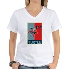 Turtle Hope Women's V-Neck T-Shirt