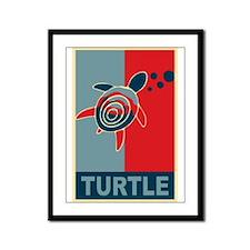 Turtle Hope Framed Panel Print