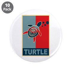 "Turtle Hope 3.5"" Button (10 pack)"