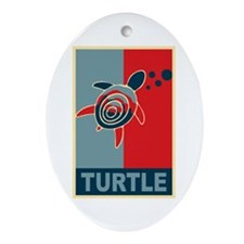 Turtle Hope Ornament (Oval)