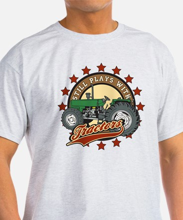Still Plays with Tractors Green T-Shirt