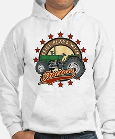 Still Plays with Tractors Green Hoodie