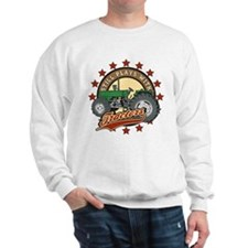 Still Plays with Tractors Green Sweatshirt